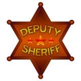 Emblema abstrato do deputado Xerife ilustração royalty free