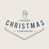Emblema ajustado ícones do Natal Foto de Stock