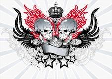 Emblema alato del cranio Immagine Stock Libera da Diritti