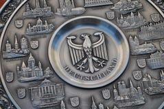 Emblema alemão no epergne da lata Fotografia de Stock Royalty Free