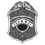 Emblema americano do crachá do vintage ilustração royalty free