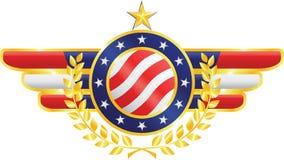 Emblema americano (vetor) Imagens de Stock Royalty Free