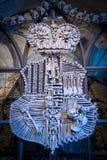 Emblema antico della famiglia fatto dai crani e dalle ossa umani Fotografie Stock Libere da Diritti