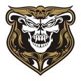 Emblema arrabbiato del cranio Immagini Stock
