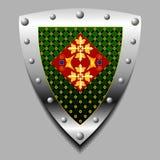 Emblema bajo la forma de escudo Fotografía de archivo libre de regalías