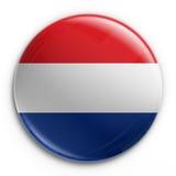 Emblema - bandeira holandesa Fotografia de Stock Royalty Free