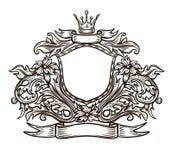 Emblema in bianco e nero Immagini Stock Libere da Diritti