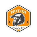 EMBLEMA BICOLOR DEL CLUB DEL MOTOR Imágenes de archivo libres de regalías