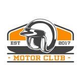 EMBLEMA BICOLOR DEL CLUB DEL MOTOR Foto de archivo