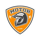 EMBLEMA BICOLOR DEL CLUB DEL MOTOR ilustración del vector