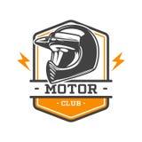 EMBLEMA BICOLOR DEL CLUB DEL MOTOR Imagenes de archivo