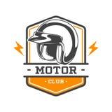 EMBLEMA BICOLOR DEL CLUB DEL MOTOR stock de ilustración