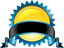 Emblema blu Fotografia Stock