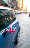 Emblema británico en el coche foto de archivo