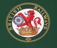 Emblema britânico das estradas de ferro imagens de stock