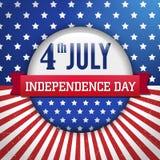 Emblema/cartaz do Dia da Independência do vetor Imagem de Stock Royalty Free