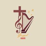 Emblema Christian Music Imagenes de archivo
