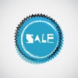 Emblema ciano de Grunge Fotos de Stock