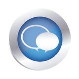 emblema circolare di colore con i fumetti Immagine Stock Libera da Diritti