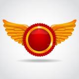 Emblema com asas Fotos de Stock Royalty Free
