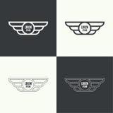 Emblema com asas Imagem de Stock Royalty Free