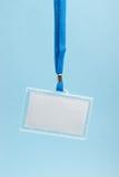 Emblema com cinta da garganta fotos de stock royalty free