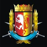 Emblema com leão Fotos de Stock
