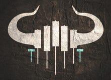Emblema comercial de la palmatoria Imágenes de archivo libres de regalías