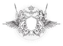 Emblema con alas Fotografía de archivo libre de regalías