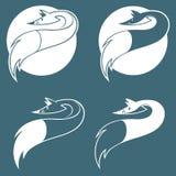 Emblema con el zorro Fotografía de archivo libre de regalías