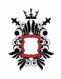 Emblema con las alas stock de ilustración