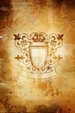 Emblema con las flores Foto de archivo libre de regalías