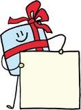 Emblema conhecido do presente do Natal Imagem de Stock