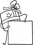 Emblema conhecido do presente do Natal Fotos de Stock Royalty Free