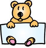 Emblema conhecido do urso da peluche Fotografia de Stock Royalty Free