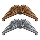 Emblema d'annata dell'aquila Fotografia Stock