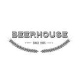 Emblema d'annata della birra Immagine Stock