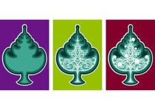 Emblema da árvore de Natal ilustração do vetor