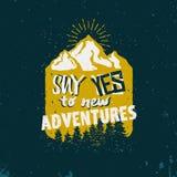 emblema da aventura ilustração royalty free