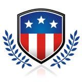 Emblema da bandeira americana ilustração royalty free