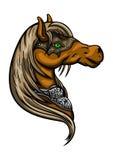 Emblema da cabeça de cavalo ilustração do vetor