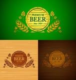Emblema da cerveja do molde do vetor Fotografia de Stock Royalty Free