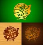 Emblema da cerveja do molde do vetor Imagens de Stock Royalty Free