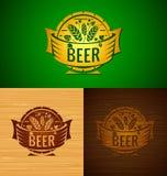 Emblema da cerveja do molde do vetor Fotografia de Stock