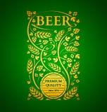 Emblema da cerveja do molde do vetor Fotos de Stock