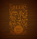 Emblema da cerveja do vetor Fotos de Stock