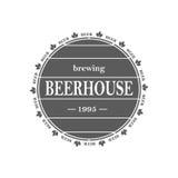Emblema da cerveja do vintage ilustração royalty free