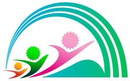 Emblema da competição Fotografia de Stock Royalty Free
