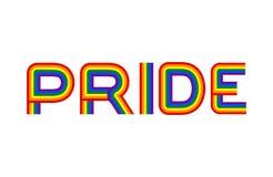 Emblema da comunidade do orgulho LGBT O arco-íris rotula o símbolo alegre ilustração stock