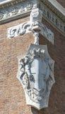 Emblema da construção antiga Foto de Stock